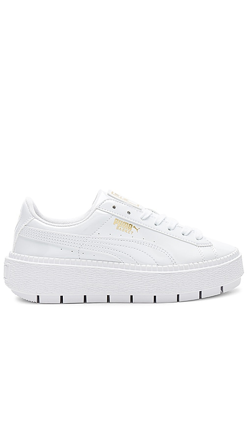 official photos 6645f aa977 Puma Basket Platform Trace Sneaker in Puma White from Revolve.com