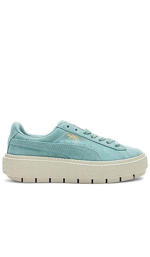 Puma Suede Platform Trace Sneaker in Blue