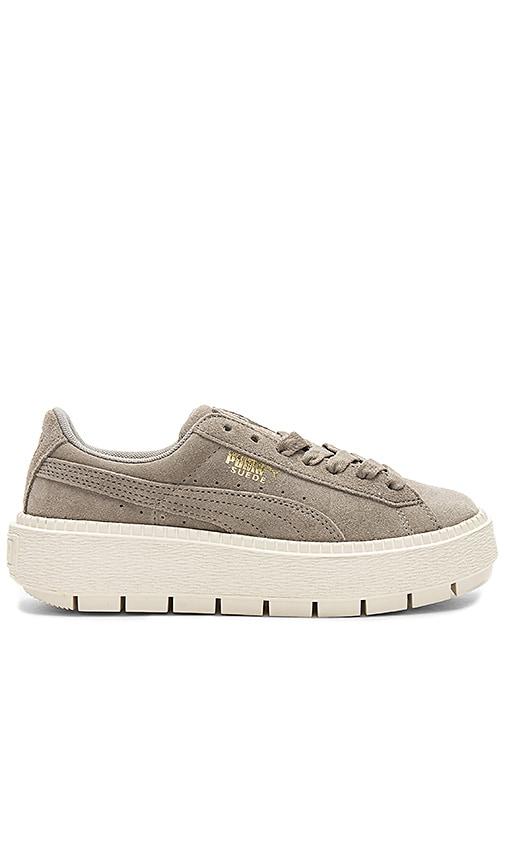 premium selection 5ff56 6550f Puma Suede Platform Trace Sneaker in Rock Ridge & Puma White ...