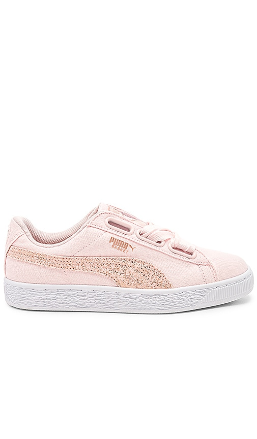 new product 2e7e9 16f2f Puma Basket Heart Canvas Sneaker in Pearl Puma White & Rose ...