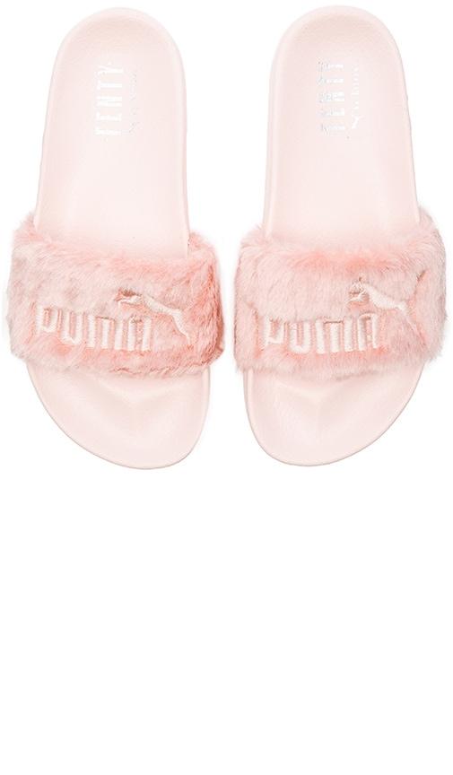 meet 61ed4 0b52c Puma x Rihanna Leadcat Fenty Sandal in Shell & Puma Silver ...