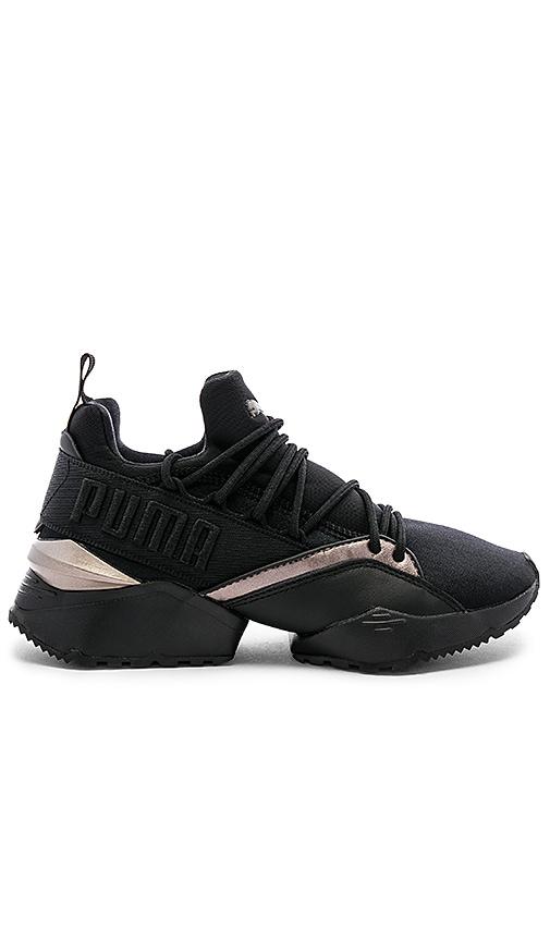 82699f35841 Puma Muse Maia Luxe Sneaker in Puma Black | REVOLVE