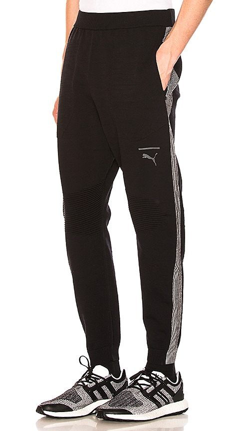 Puma Select EvoKNIT Tech Pants in Black