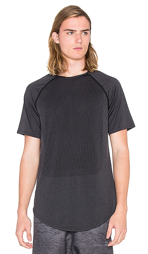 Puma Select x STAMPD Raglan Sleeve Tee in Charcoal