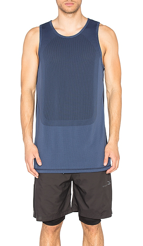 Puma Select x STAMPD Long Tank Top in Blue