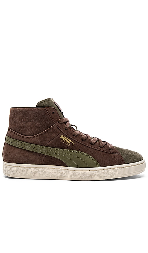 Puma Select x Bobbito Suede Mid Sneaker in Brown