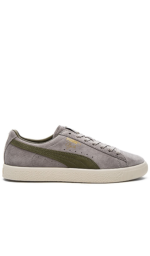 Puma Select x Bobbito Clyde Sneaker in Olive