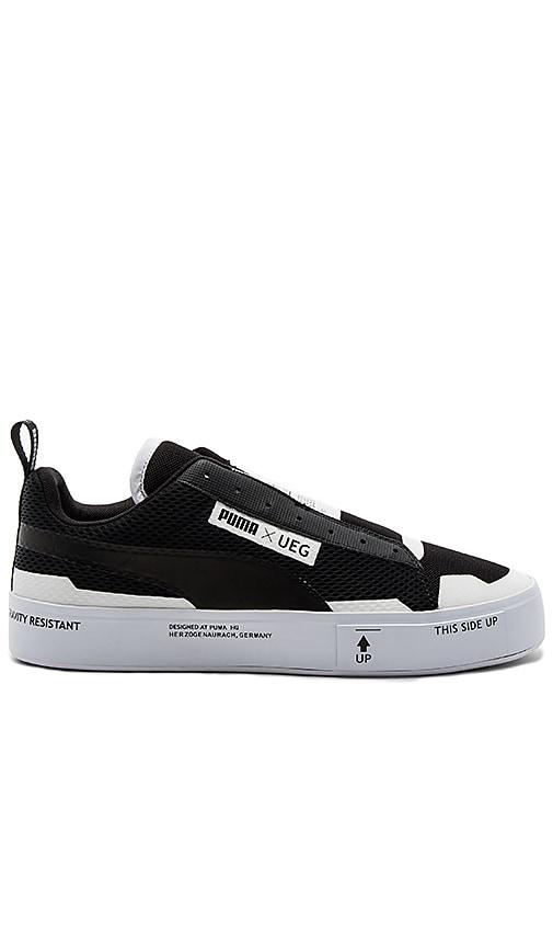 5840cb65bcc Puma Select x UEG Court Play Slip On in Puma Black   Puma White ...