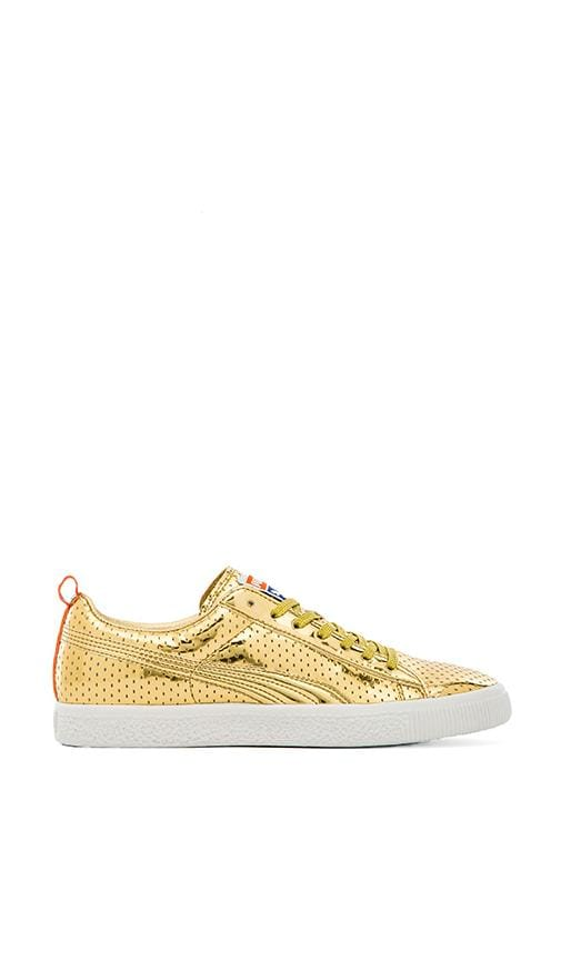 hot sales a678e 5ad56 Puma Select Limited Edition Clyde Frazier in Metallic Gold ...