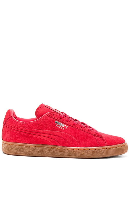 cab9d1aba70b84 Puma Select Suede Emboss in High Risk Red Gum