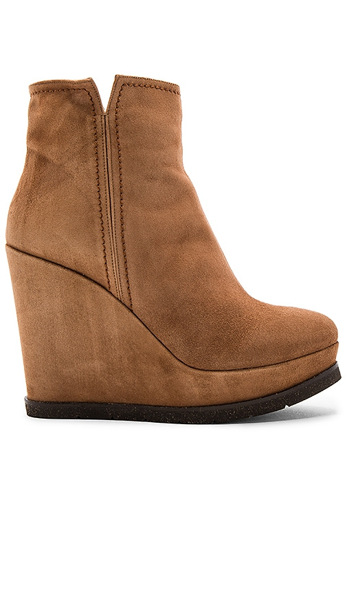 Pura Lopez Wedge Boot in Tan