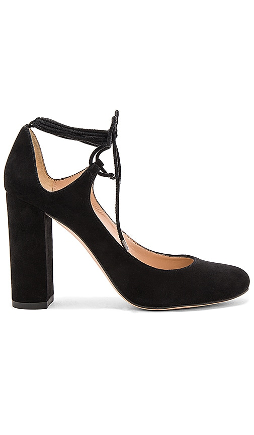 Pura Lopez Laced Ankle Heel in Black