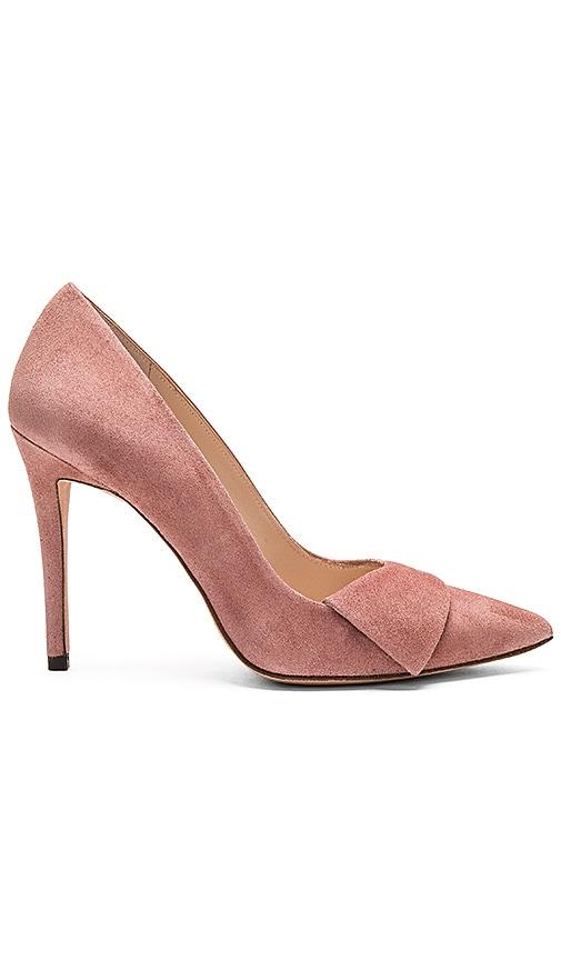 018a8d9c4af4 Pura Lopez Baby Heel in Suede Rose
