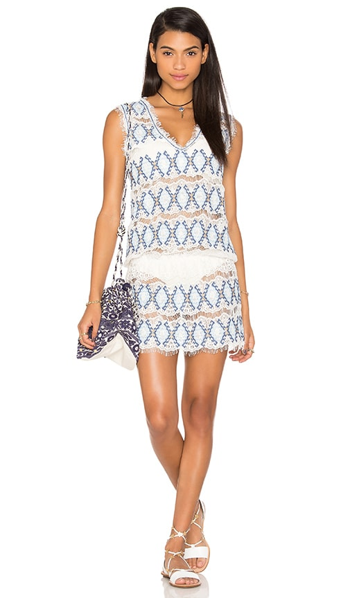 Queen & Pawn Ios Lace Mini Dress in White