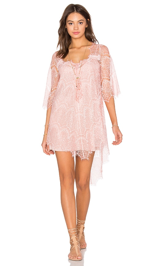 Queen & Pawn Salina Lace Tunic in Pink