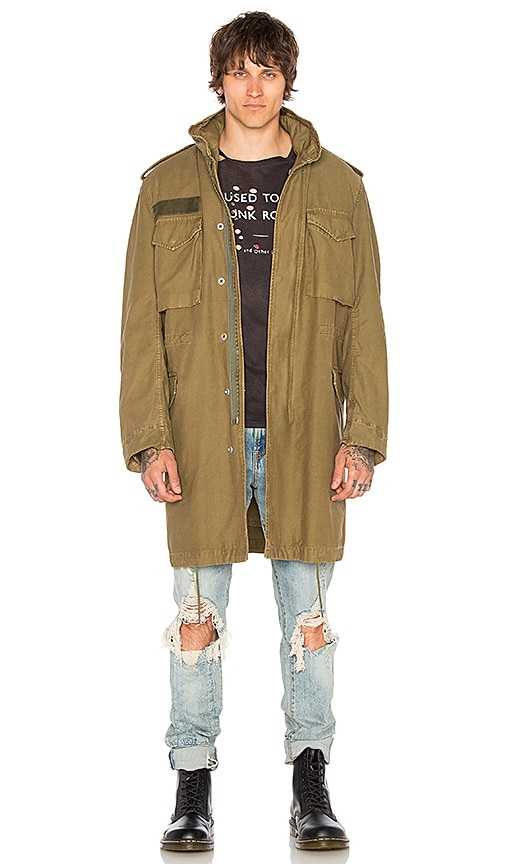 R13 Surplus Oversized M65 Jacket in Army