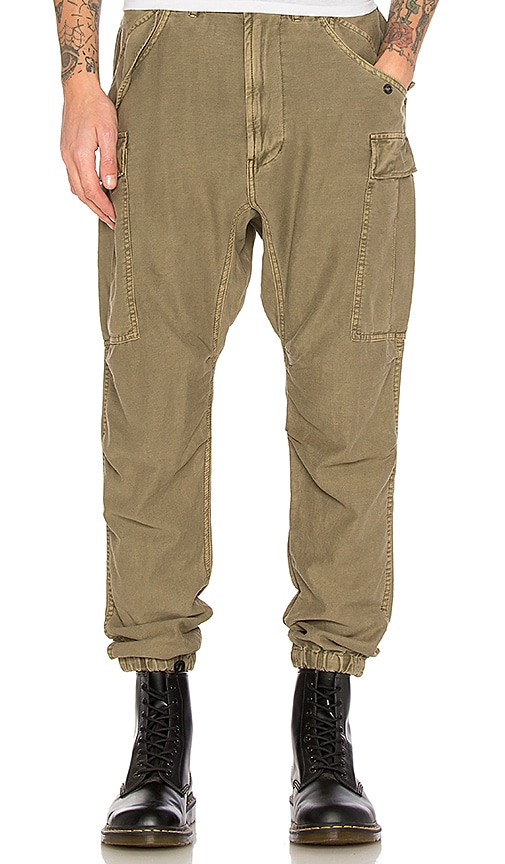 R13 Slim Cargo Pants in Olive