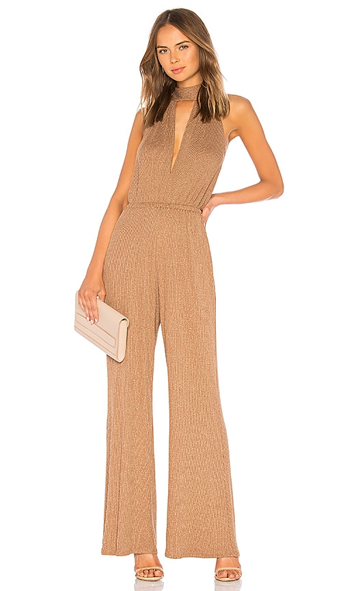 Metallic Rib Charlie Sweater Jumpsuit