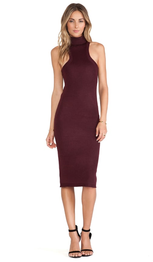 Turtleneck Mid-Length Dress