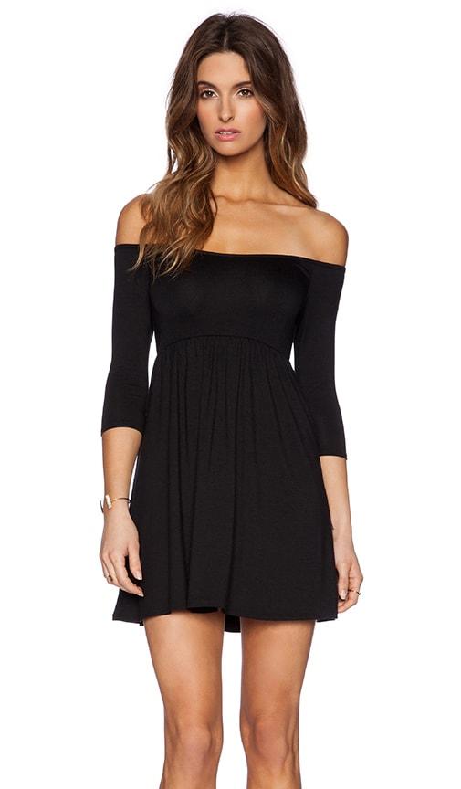 Rachel Pally x REVOLVE Off The Shoulder Empire Dress in Black