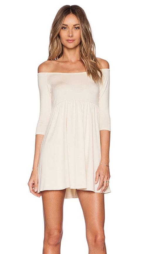 Rachel Pally x REVOLVE Off The Shoulder Empire Dress in Cream