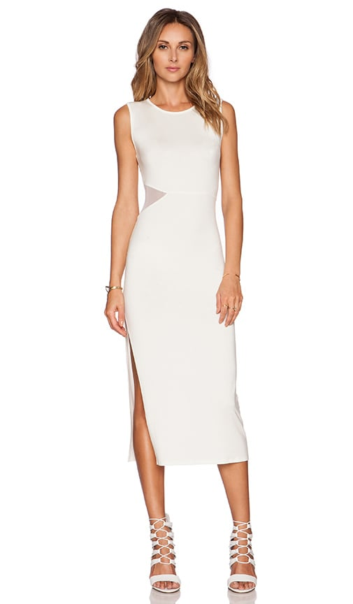 Rachel Pally Mesh Ikram Dress in White