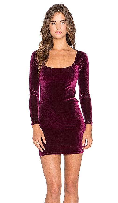 Rachel Pally Velvet Cove Mini Dress in Burgundy