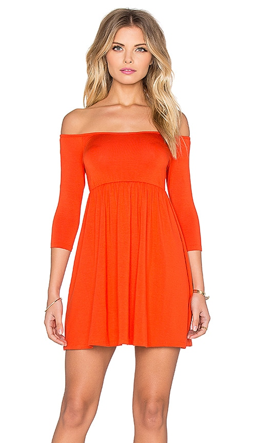 Rachel Pally x REVOLVE Off The Shoulder Empire Dress in Orange