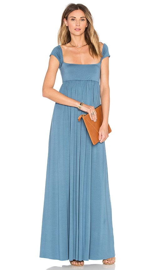 Rachel Pally Isa Cap Sleeve Dress in Blue