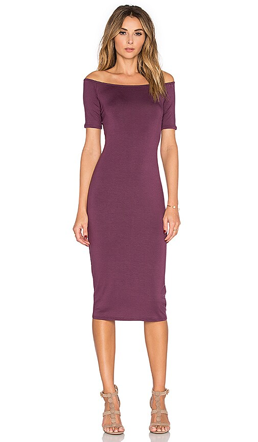 Rachel Pally Jagger Midi Dress in Currant