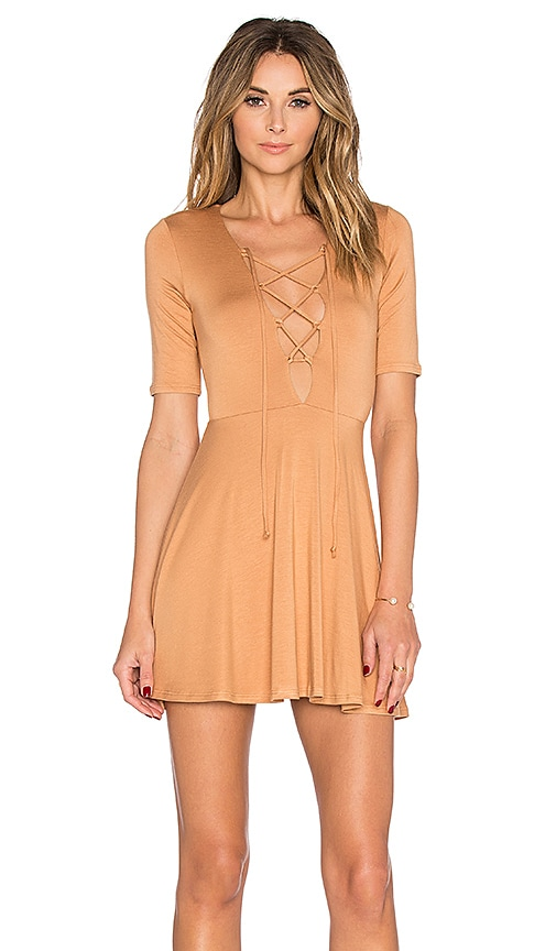 Rachel Pally Kidada Mini Dress in Tan