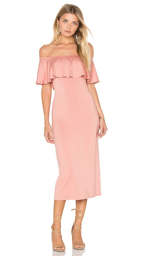 Rachel Pally Bodycon Ruffle Dress in Blush