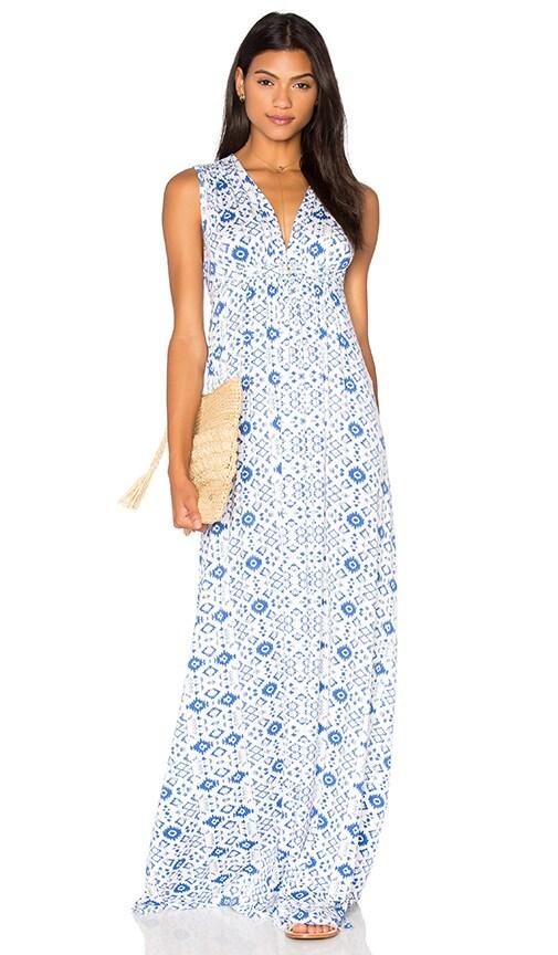 Rachel Pally Long Sleeveless Caftan Dress in Blue