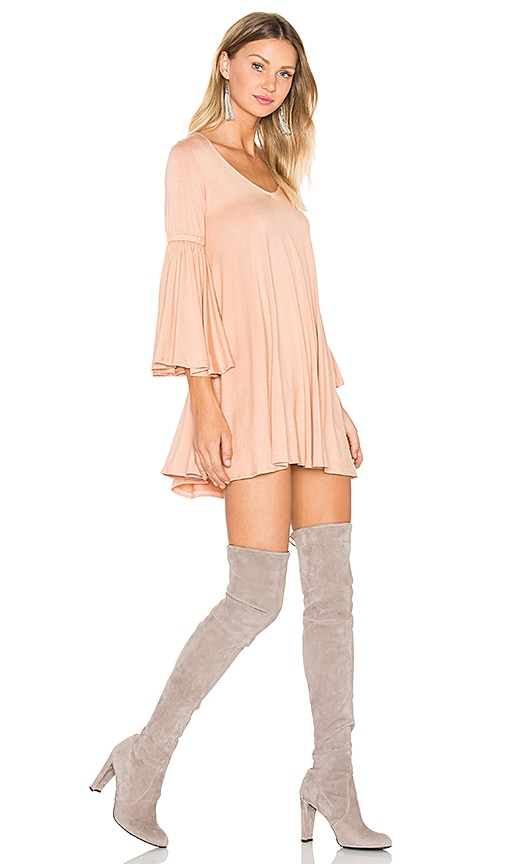 Rachel Pally Flutter Sleeve Mini Dress in Peach