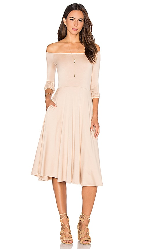 Rachel Pally Long Sleeve Lovely Dress in Beige