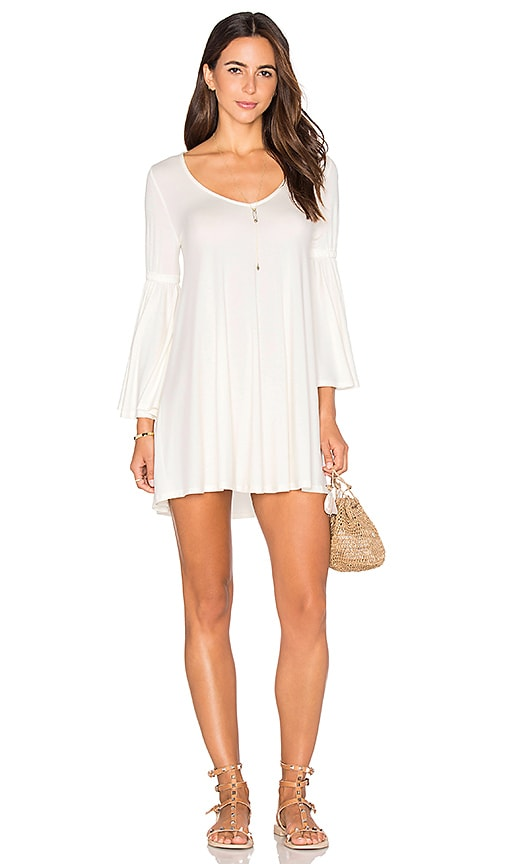 Rachel Pally Flutter Sleeve Mini Dress in White
