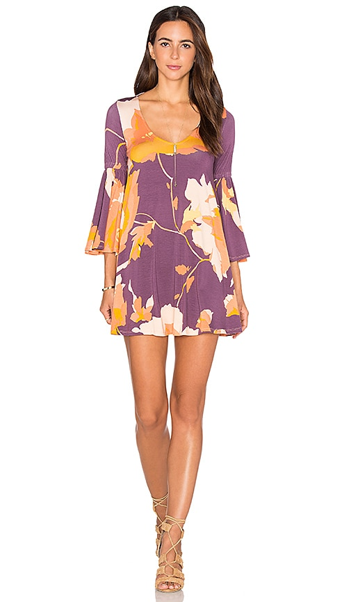 Rachel Pally Flutter Sleeve Mini Dress in Purple