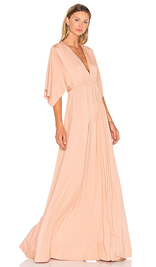Rachel Pally Caftan Maxi Dress in Peach
