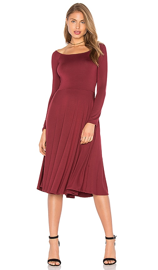 Rachel Pally Long Sleeve Lovely Dress in Burgundy