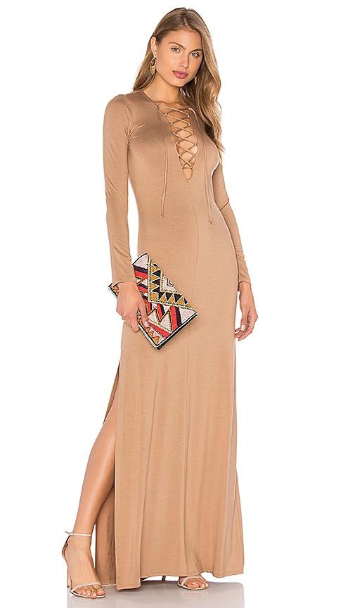 Rachel Pally Long Sleeve Jolene Dress in Beige