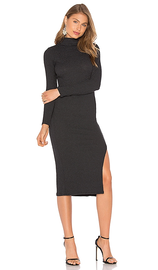 Rachel Pally Turtleneck Dress in Charcoal
