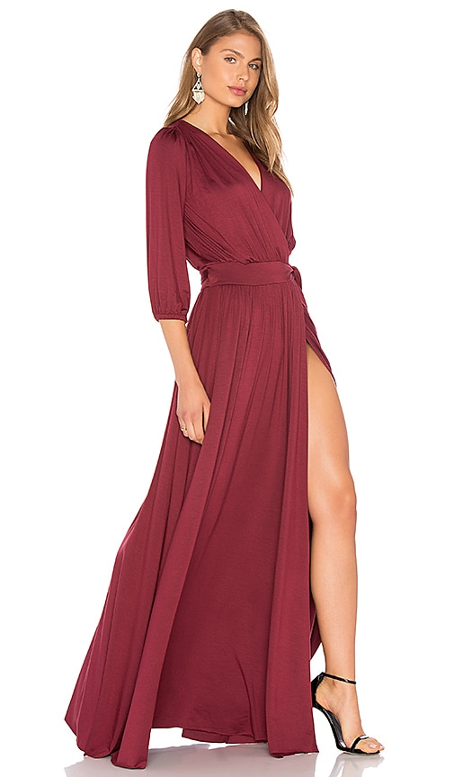 Rachel Pally Ingrid Dress in Burgundy