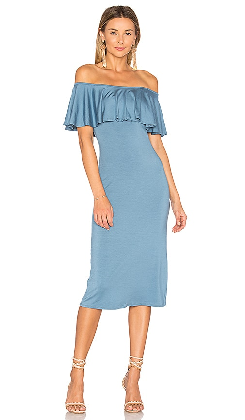 Rachel Pally Ruffle Midi Dress in Blue