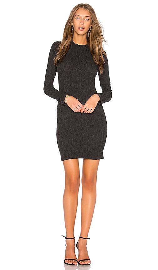 Rachel Pally Sweater Rib Bodice Seam Dress in Charcoal