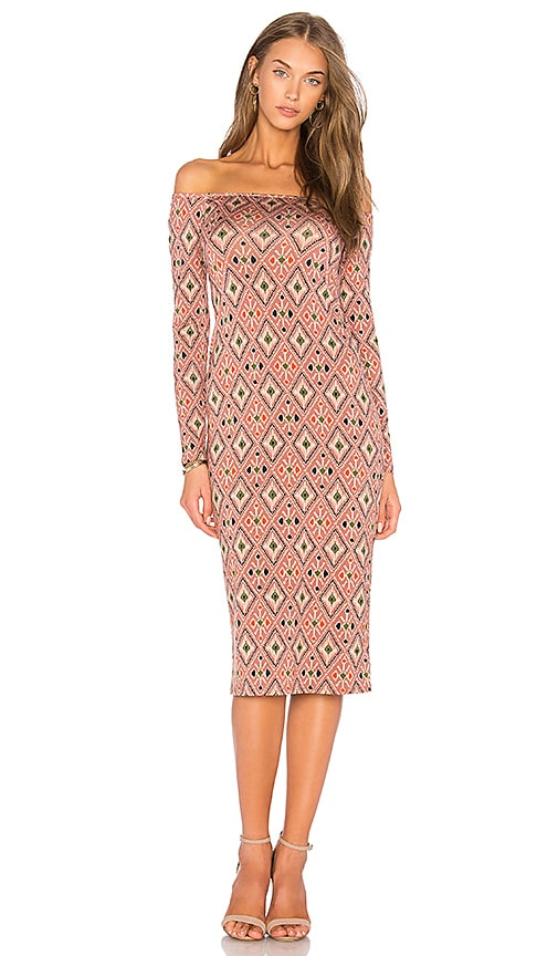 Rachel Pally Long Sleeve Jagger Dress in Rose