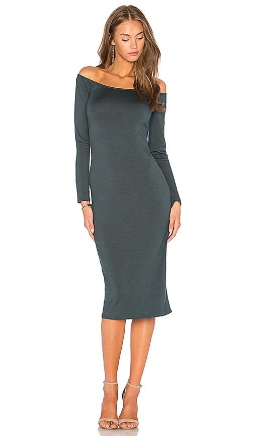 Rachel Pally Long Sleeve Jagger Dress in Dark Green
