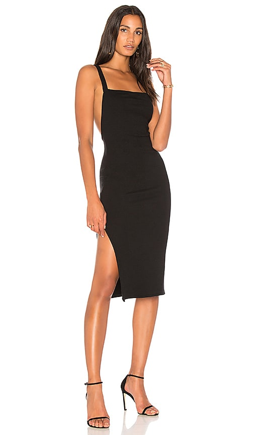 Rachel Pally Luxe Rib Low Back Dress in Black