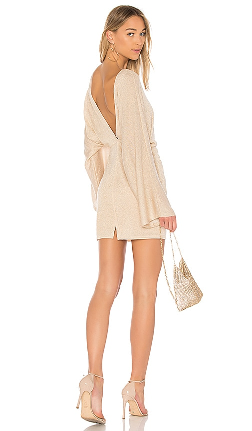 Rachel Pally Lenah Sweater Dress in Metallic Gold