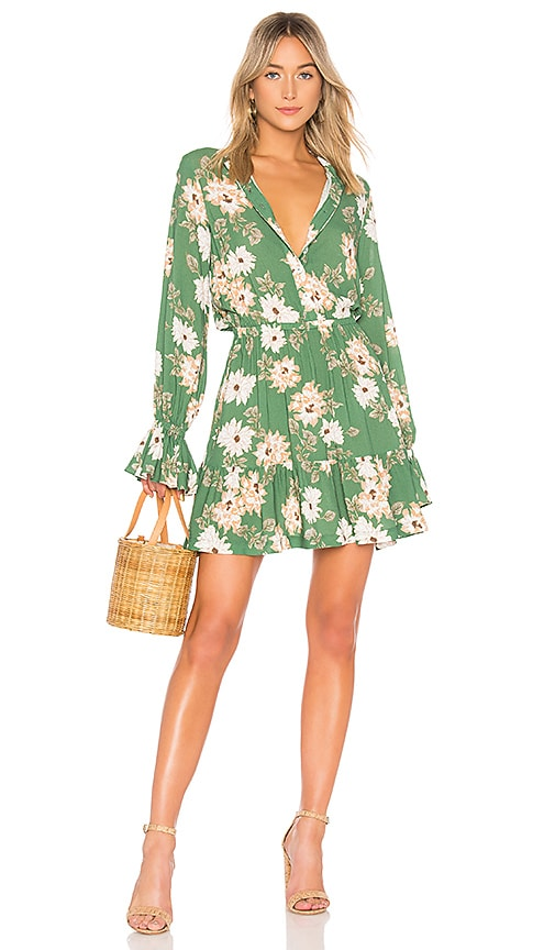 Rachel Pally Crepe Amaya Dress in Green