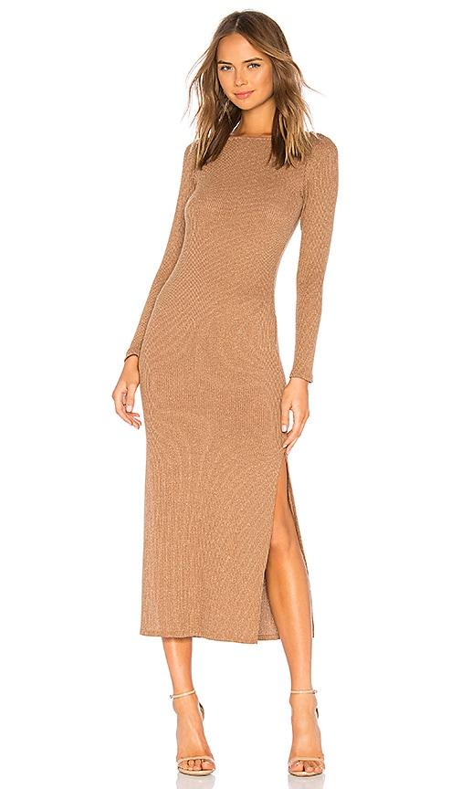 Metallic Rib Joan Sweater Dress